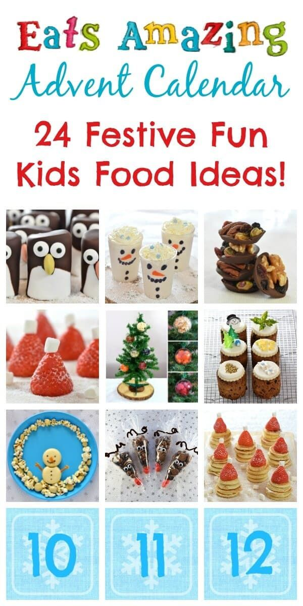 The Eats Amazing Advent Calendar of Fun Christmas Food - 24 awesome ideas for Christmas fun food ideas that kids will love!