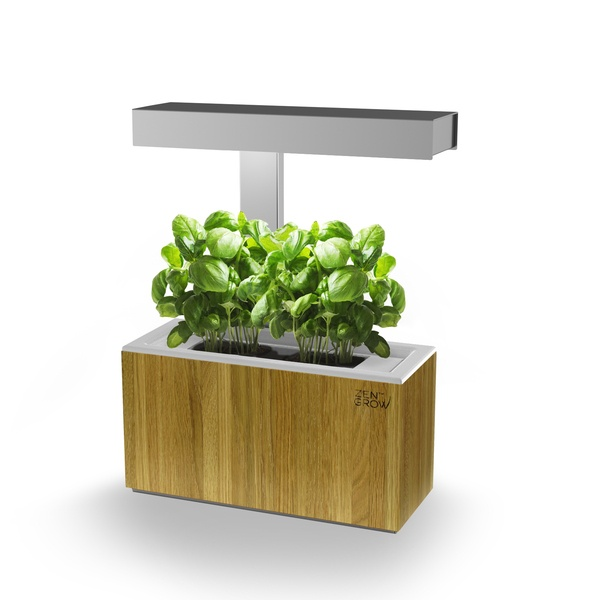 "Want. The Zengrow hydroponic tabletop garden. Most of these look like plastic buckets. The ""design"" version from Zengrow actually looks pretty nice. Obviously has a design premium, but guess that's how it goes. When I've got enough space for this, I want one. Nothing like fresh parsley, sage, rosemary and thyme."