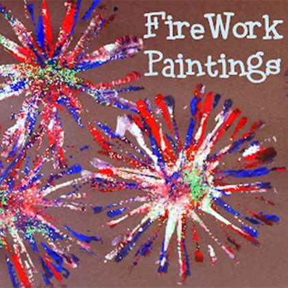 Firework Painting... Crafts for the kids