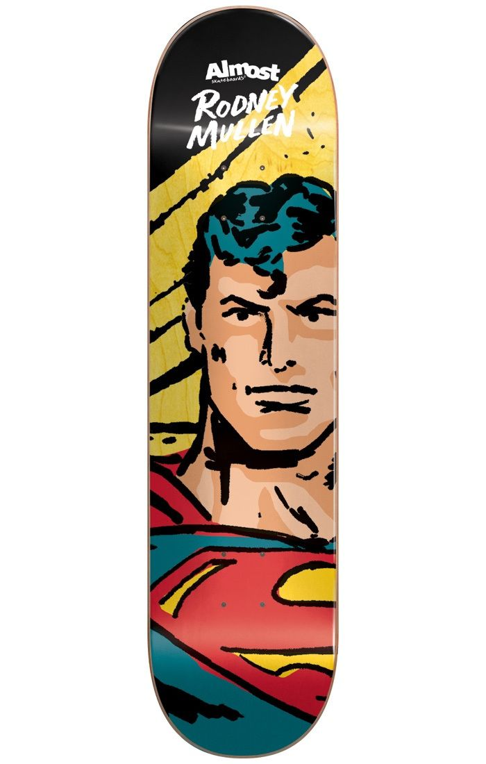 #Almost Skateboards Almost Sketchy Superman R7 Skateboard Deck - #Almost and DC have joined forces to defend justice from the forces of evil but they need your help! With their new skateboard deck range and their solid construction your mad tricks might be just what they need! Pick up your weapon of choice and get to skating! The multiverse depends on it!The new Almost x DC range is in a league of its own! The R7 construction of the Mullen signature board is a perfect representation for the…