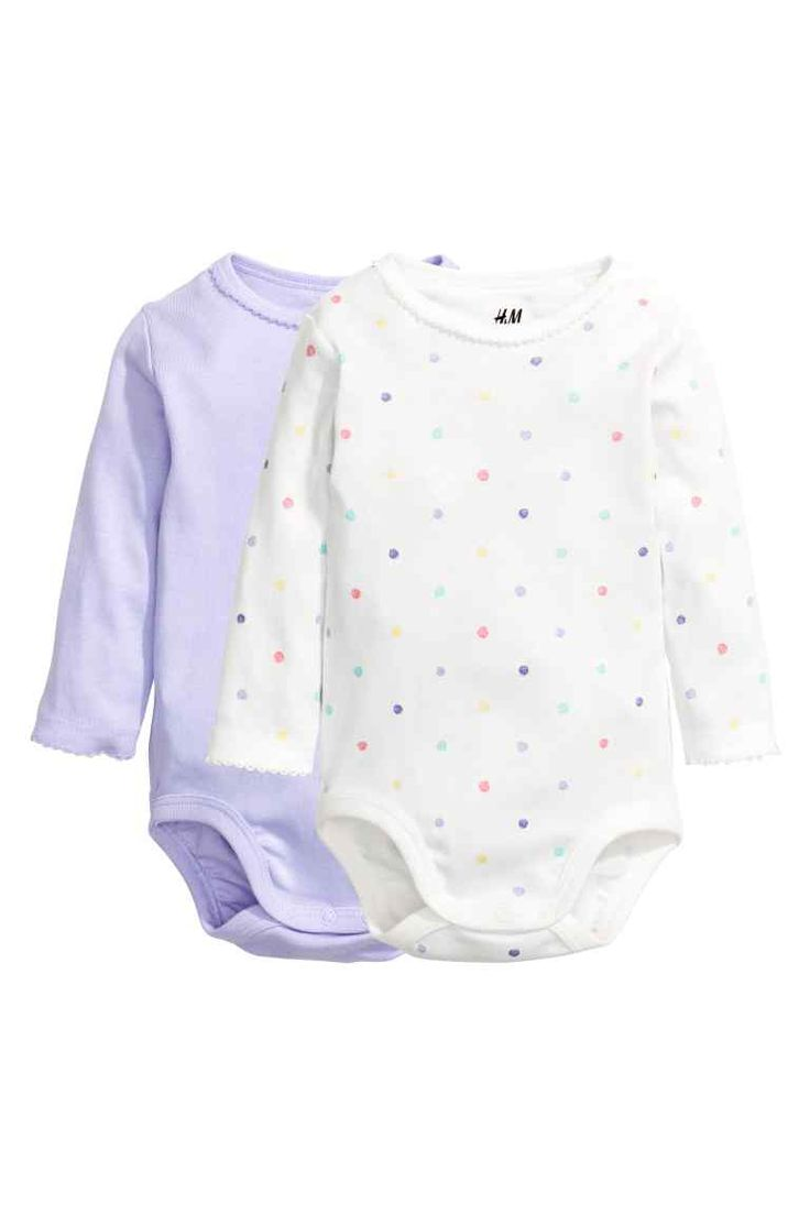 Fionnuala - 12-18M (£6.99) 2-pack long-sleeved bodysuits | H&M