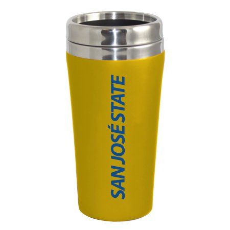 San Jose State University Spartans Double Walled Travel Tumbler, Gold