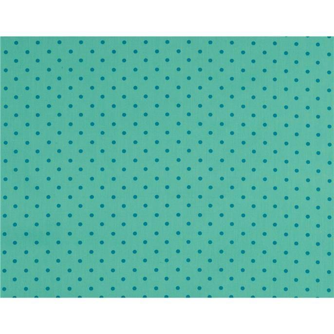 Quiltstof Robin met stippen. Deze stof is per meter verkrijgbaar en geschikt voor het maken van gordijnen, kleding, kussens, dekbedovertrekken en nog veel meer. Kleur: blauw.