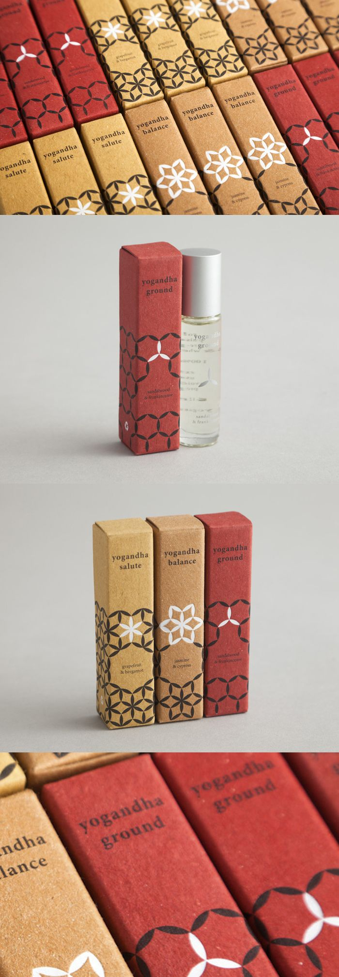 Yogandha 100% natural yoga oils packaging by Distinctive Repetition