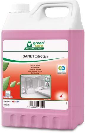 Solutie ecologica profesionala pentru spatiile sanitare. Formula concentrata, parfum placut de lamaie.