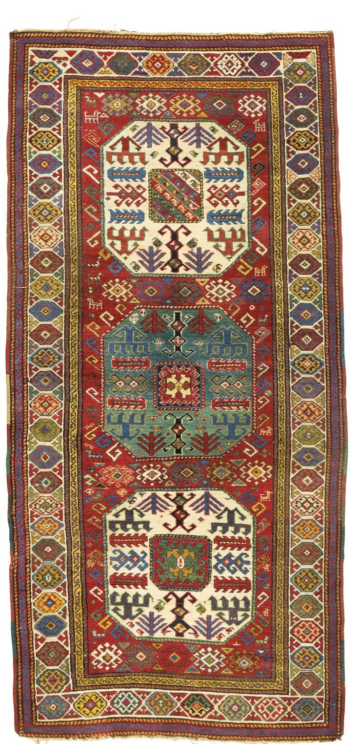 A Chajli Kazak rug, Southeast Caucasus - approximately 245 by 115cm; 8ft., 3ft. 9in., mid 19th century