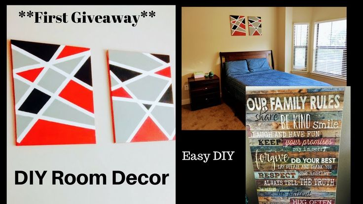 Easy DIY Room Decor Ll Giveaway ( Closed) Ll ReallIfe Realhome