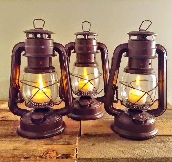 Medium size with led custom railroad lantern hand