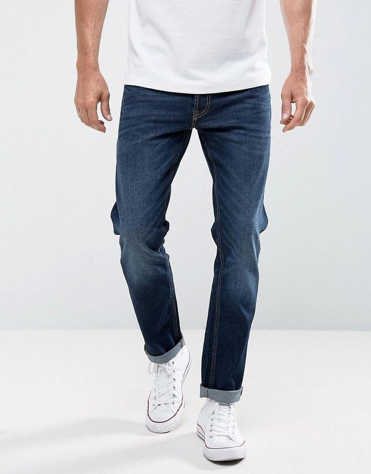 Get this Jack & Jones's slim jeans now! Click for more details. Worldwide shipping. Jack & Jones Jeans in Slim Fit - Blue: Jeans by Jack Jones, Firm-stretch denim, Dark blue wash, Concealed fly, Functional pockets, Slim fit - cut close to the body, Machine wash, 99% Cotton, 1% Elastane, Our model wears a W 32 L 32 and is 188cm/6'2 tall. Founded in 1989, Jack & Jones is a Danish brand that offers cool, relaxed designs that express a strong visual style through their diffusion lines, Jack…