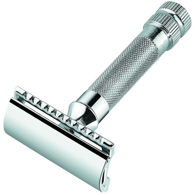 DOUBLE EDGED BLADES RAZOR - SMOOTH CLEAN SHAVE - DECORATIVE TRADITIONAL MERKUR