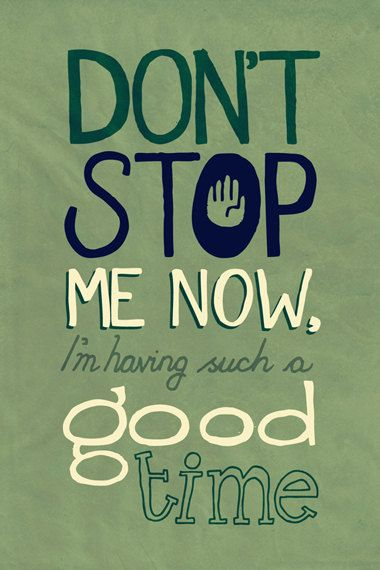 Don't Stop Me Now by Queen - Lyrical Print (Etsy Shop LyricADay)