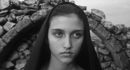 """Margherita Caruso as the young Mary, in Pasolini's """"Gospel According to Matthew,"""" 1964"""