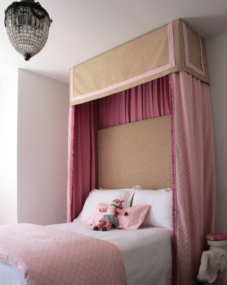Box Room Beds Box Room: Sophisticated Pink + Tan Girl's Bedroom. Love The Pelmet