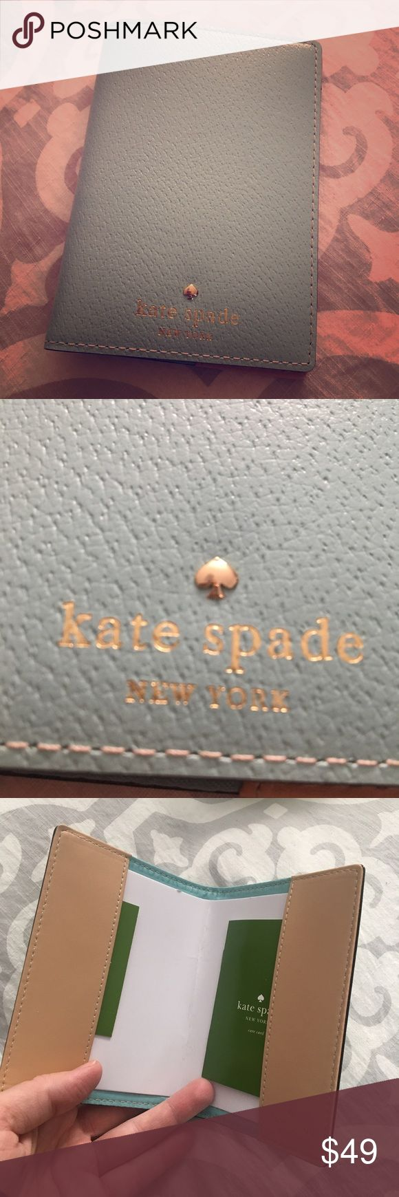 Kate Spade Minty Bluish Passport Holder Gorgeous passport case! Never used! No trades, ships fast! kate spade Accessories