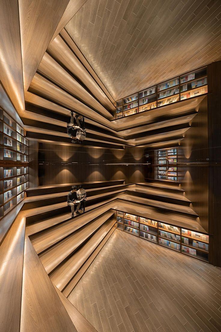 Miroir sur mesure, du sol au plafond dans la plus belle librairie en Chine