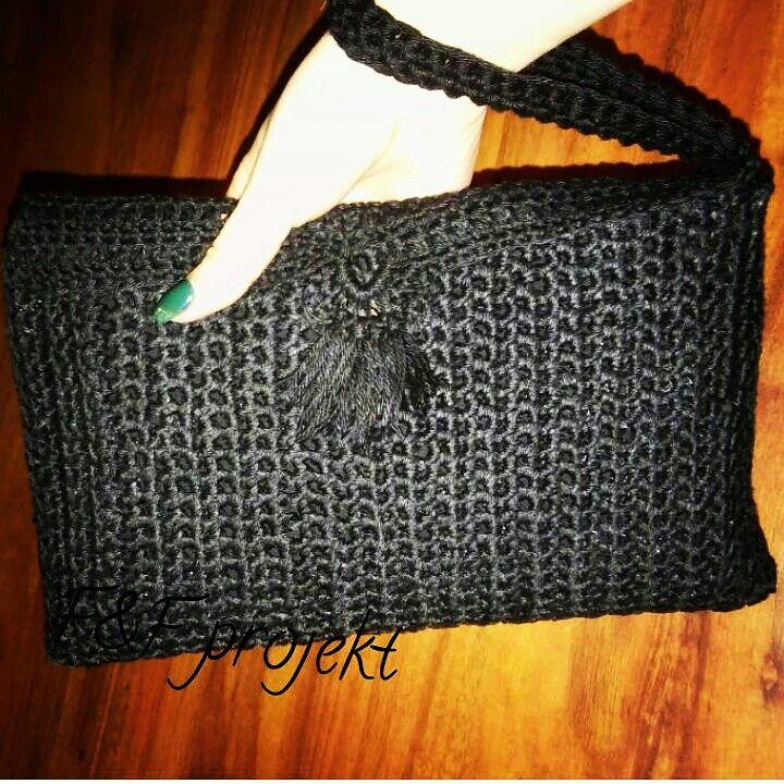 bag crochet handbag torebka torebka na szydełku kopertówka