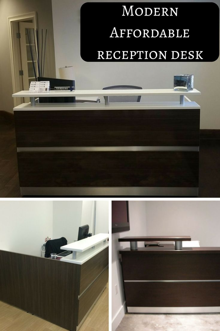 cover letter hotel front desk%0A Modern Affordable Reception Desk Shown in Espresso with White transaction  top  u     all espresso  Available