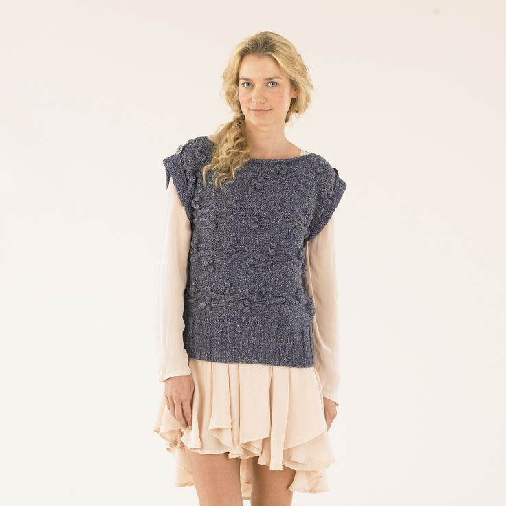 Texture with a twist - a hand knit in Sublime Luxurious Aran Tweed yarn.