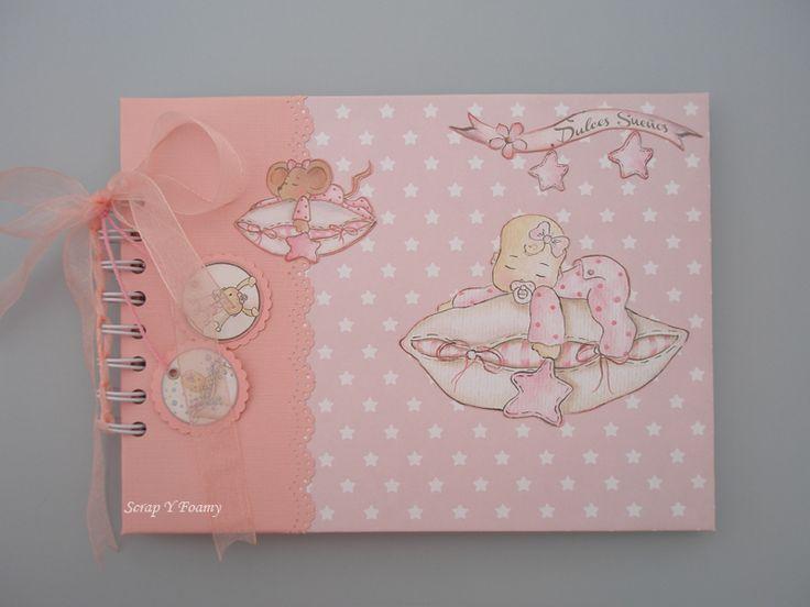 Libro de Firmas de Bautizo con la colección de Bebés de Dayka Trade Falta personalizar con el nombre del bebé