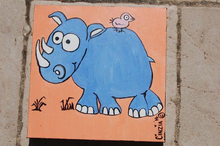 Rhinoceros - acrylic on canvas (2014)