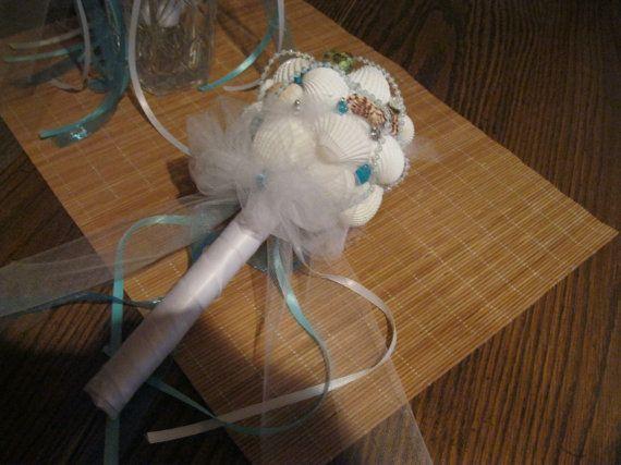 Seashell Bouquet  Bridesmaids by artseero on Etsy, $60.00