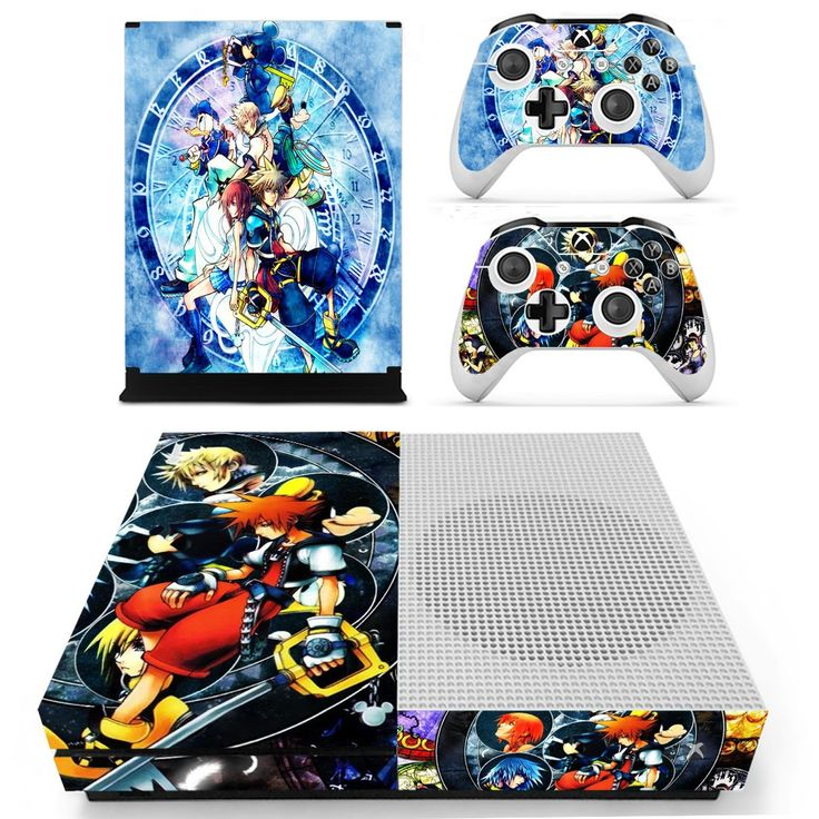 Kingdom Hearts HD skin decal for xbox one S console and 2 controllers