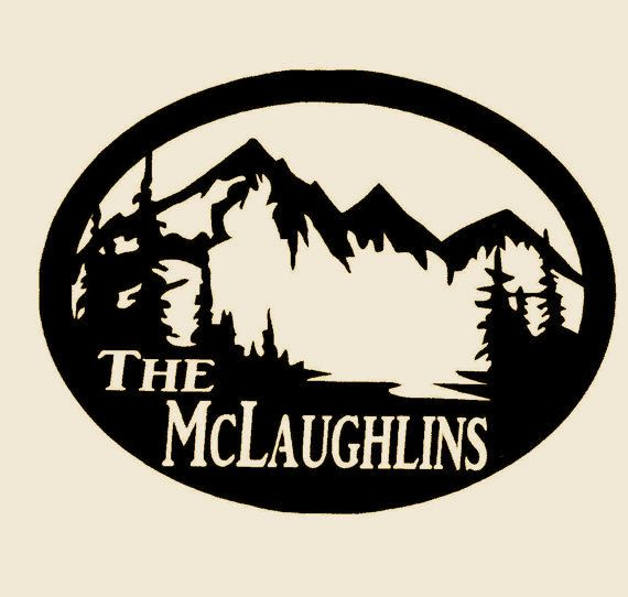 The Mclaughlins Welcome Sign Western Metal Art Home Cabin