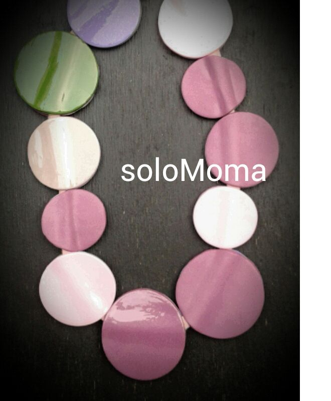 polymer clay, necklace, soloMoma