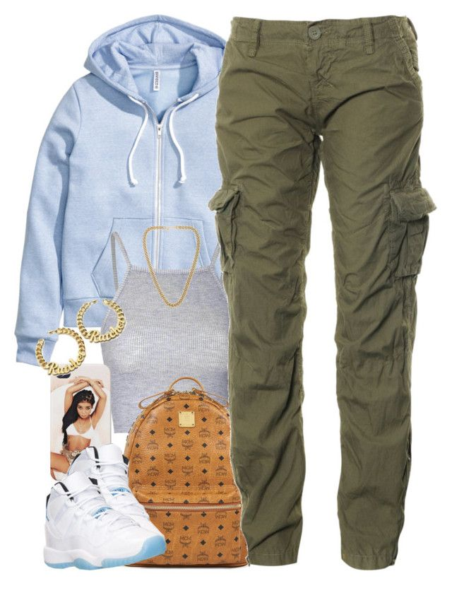 """Untitled #1382"" by power-beauty ❤ liked on Polyvore featuring H&M, Glamorous, MCM, Superdry and Kenneth Jay Lane"