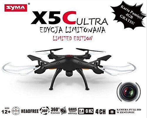 Quadrocopter SYMA X5C ULTRA kamera HD bialy - http://www.midronepro.com/producto/quadrocopter-syma-x5c-ultra-kamera-hd-bialy/