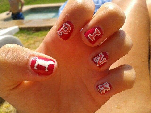 my nails art! PINK.. Victoria Secret