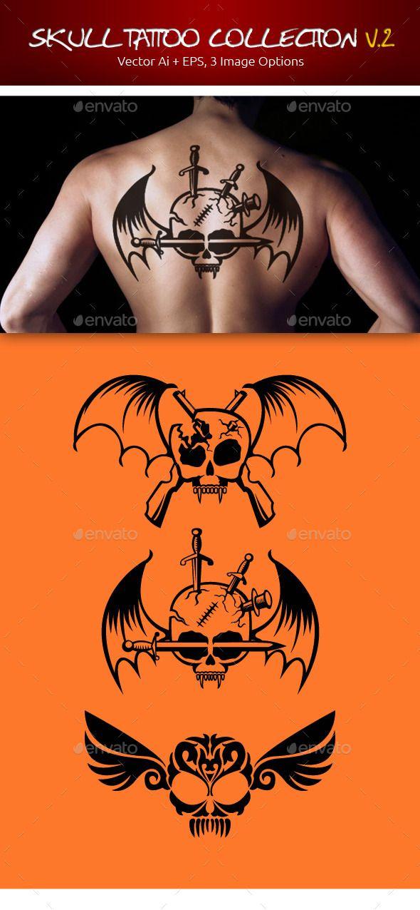 Skull Tattoo Collection V.2