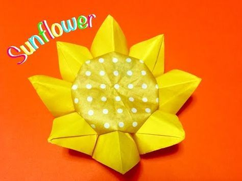 折り紙 ひまわり Origami Sunflower - YouTube