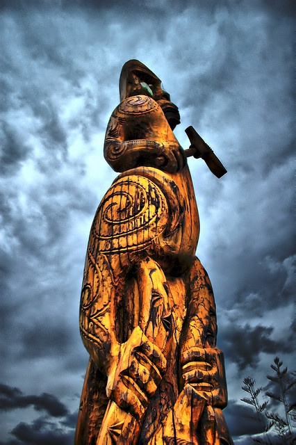 Maori Carving - Karaka Point Marlborough Sounds