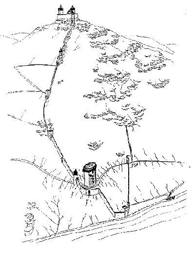 A visegrádi vár - 13. századi várkomplexum rekonstrukciója