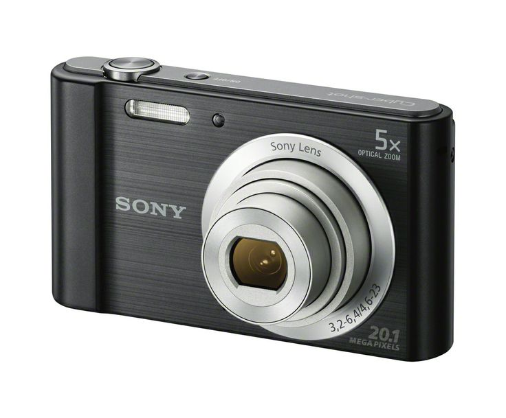 New W800 Compact Cyber-Shot camera with 5x optical zoom lens.