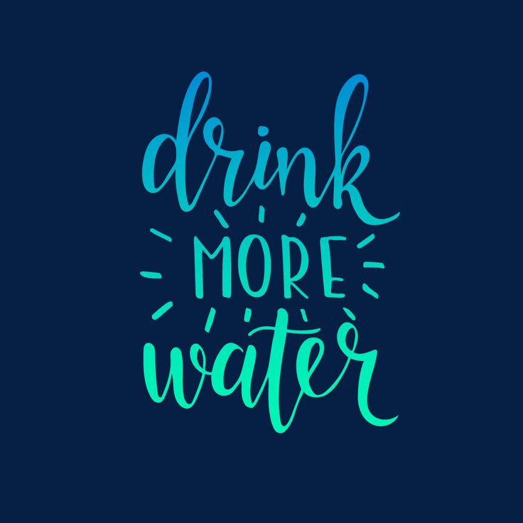 Drink More Water :)