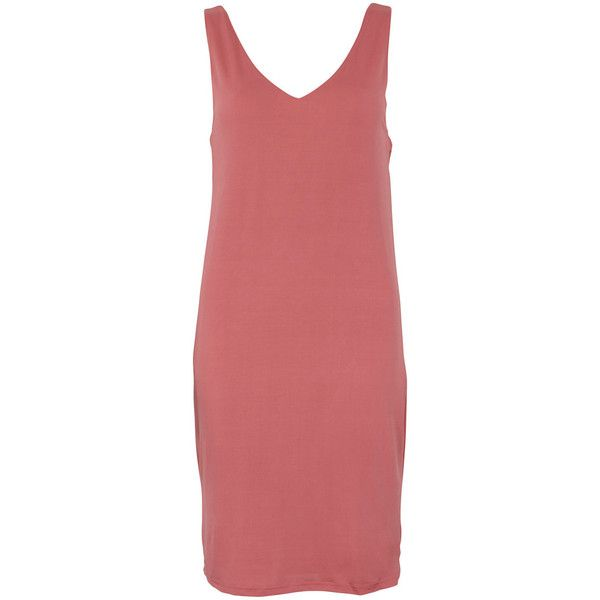 Vila Yantai Dress (99 SEK) ❤ liked on Polyvore featuring dresses, sweet cherry, shiny red dress, wetlook dress, cherry red dress, deep v neck dress and vila dress