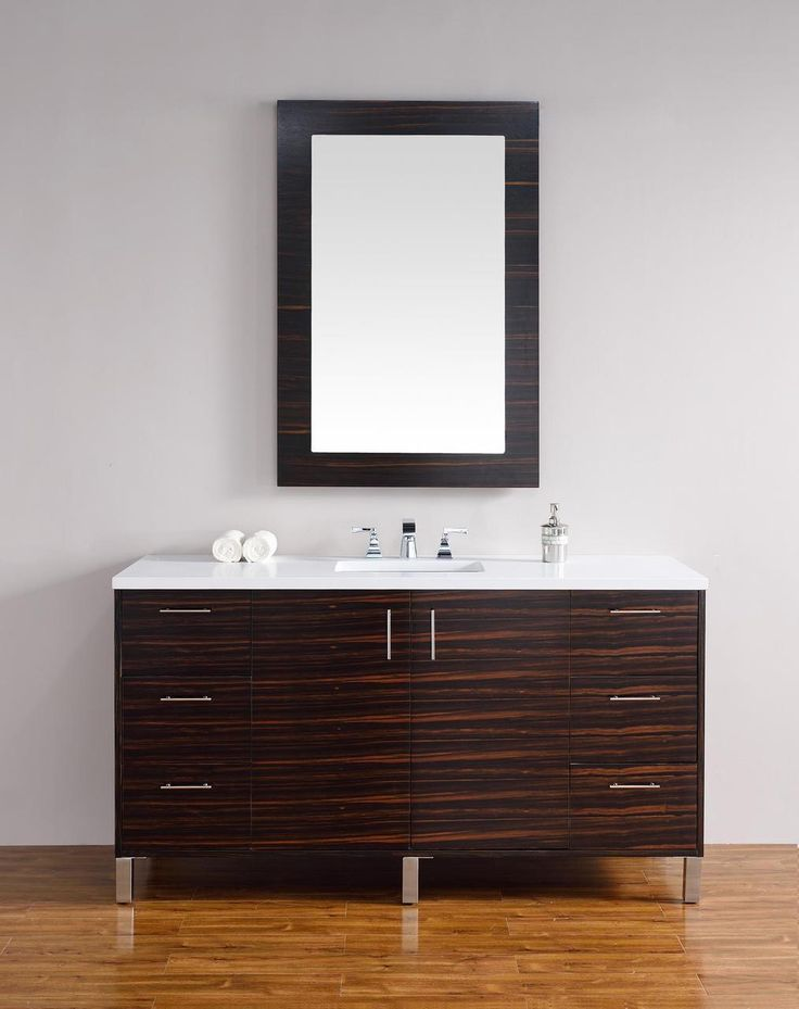 Photo Image The bathroom cabinets may also be wall mounted for a ucfloating ud vanity look