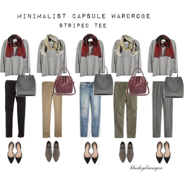 Minimalist Wardrobe - Fall 2015 - Striped Tee by bluehydrangea on Polyvore featuring Madewell, J.Crew, Boden, Zara, Banana Republic, SEVENTY and Lost & Found