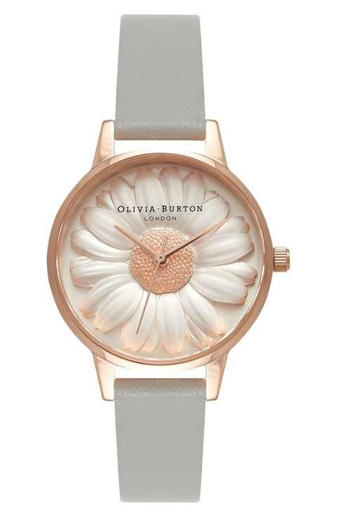 7795b33fa7ce Olivia Burton  Flower Show  Leather Strap Watch
