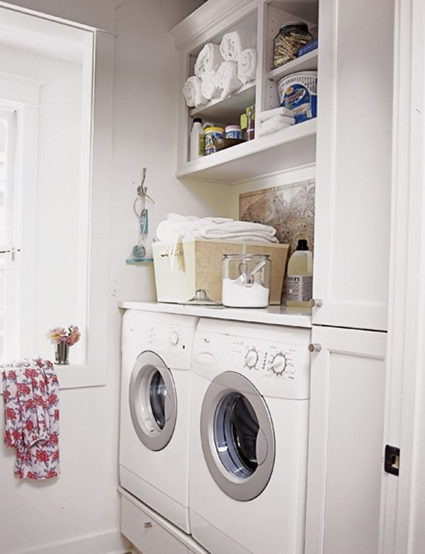 Beautiful Design and Ideas for Your Small Laundry Room : Minimalist Laundry Room Ideas LaurieFlower 016