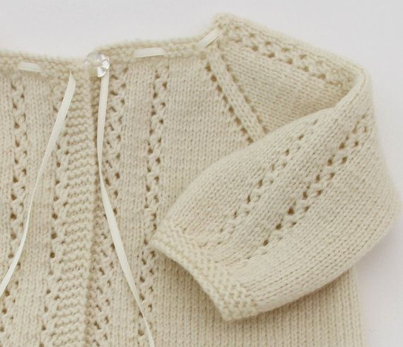 Lace Cardigan Instructions in French PDF by LittleFrenchKnits