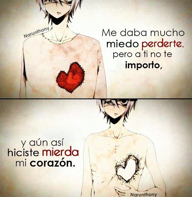 Me daba mucho miedo...       #Anime #Otaku #Frases #Phrases #Frasesdeanime #Narunthony #Sad #Animeboy #Quotes #DesmotivacionesAnime #Español #Letras #Escritos