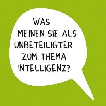 HOMEADE IN HAMBURG Kühlschrankmagnet Intelligenz