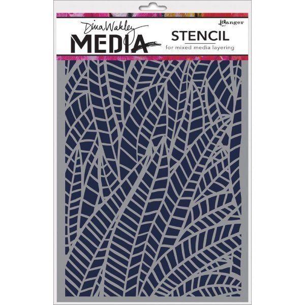 """Dina Wakley Media Stencil JUNGLE Pattern 6 x 9"""" #RangerIndustries"""