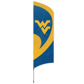 West Virginia Mountaineers Tall Team Feather Flag With Flagpole