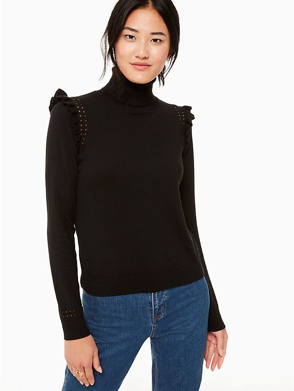 afe08174602 Kate Spade Ruffle Turtleneck Sweater