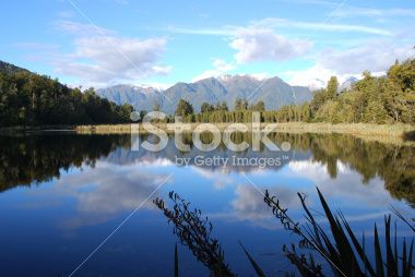 Lake Matheson, West Coast, New Zealand Royalty Free Stock Photo