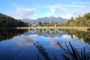 Lake Matheson, West Coast, New Zealand Royalty Free Stock Photo